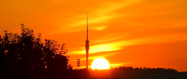Sonnenaufgang in Dresden 2015-08-31
