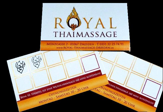 Bonuskarte Royal Thaimassage Dresden