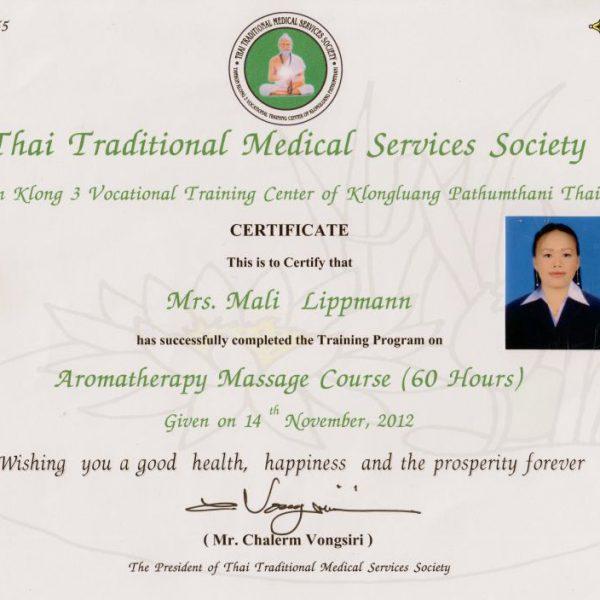 Mali Zertifikat Aromatherapie 2012