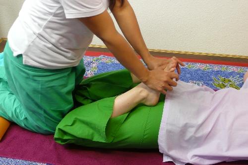 Dehnung der Bein- und Fußmuskulatur
