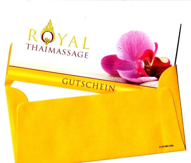 Massage Geschenk Gutschein Dresden - goldgelber Umschlag